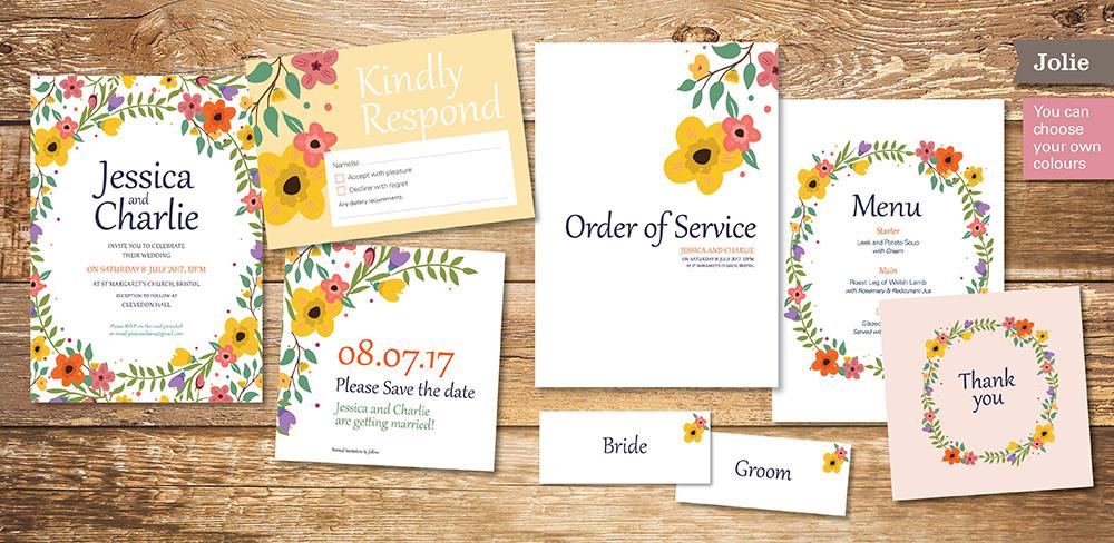 Jolie Wedding Invitation - Beautiful Wedding Stationery UK | Save ...