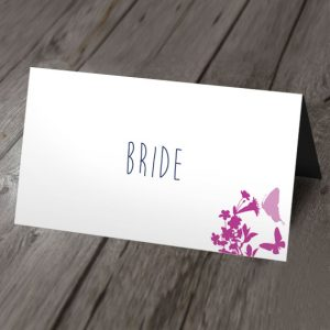 blossom wedding place card